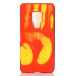Paste Skin + PC Thermal Sensor Discoloration Case for Huawei Mate 20(Red yellown)