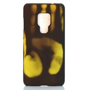 Plakken skin + PC thermische sensor verkleuring Case voor Huawei mate 20 (zwart groen)