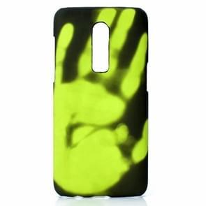 Plak de huid + PC thermische sensor verkleuring geval voor een plus 6 (zwart groen)