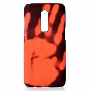 Plak de huid + PC thermische sensor verkleuring geval voor een plus 6 (zwart rood)