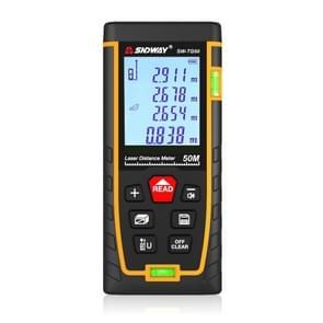 SNDWAY Double Horizontal bubble Rangefinder Laser Distance Meter Range Hand Tool Device SW-TG50