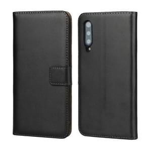 Leather Horizontal Flip Holster for Xiaomi Mi 9 , with Magnetic Clasp and Bracket and Card Slot and Wallet(Black)