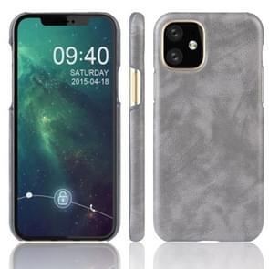 Schokbestendige Litchi textuur PC + PU Case voor Apple iPhone XI 2019 (grijs)