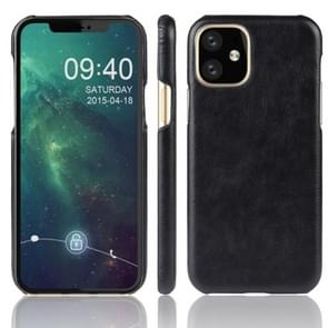Shockproof Litchi Texture PC + PU Case For Apple iPhone 11(Balck)