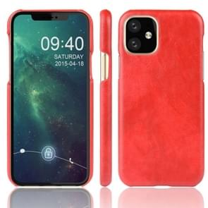 Shockproof Litchi Texture PC + PU Case For Apple iPhone 11(Red)