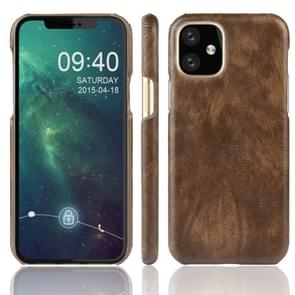 Shockproof Litchi Texture PC + PU Case For Apple iPhone 11(Brown)
