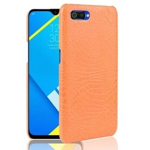 Shockproof Crocodile Texture PC + PU Case for OPPO Realme C2(Orange)