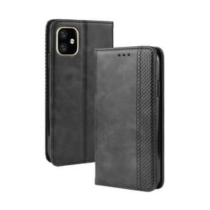 Magnetic Buckle Retro Crazy Horse Texture Horizontal Flip Leather Case for Apple iPhone XI 2019 5.8, with Holder & Card Slots & Photo Frame(Black)