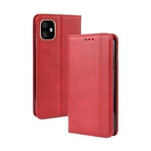 Magnetische gesp retro Crazy Horse textuur horizontale Flip lederen case voor Apple iPhone XIR 2019 6 1 inch  met houder & card slots & fotolijst (rood)