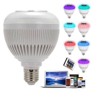 E27 12W Wireless Bluetooth Speaker Music Playing RGB LED Bulb Dimmable RGBW LED Lamp with 24 Keys Remote Control,  AC 110-240V