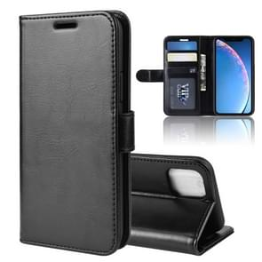 R64 Texture Single Fold Horizontal Flip Leather Case for iPhone XIR 2019, with Holder & Card Slots & Wallet(black)