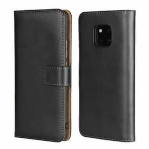 Leather Horizontal Flip Holster for Huawei Mate 20 Pro ,with Magnetic Clasp and Bracket and Card Slot and Wallet(Black)