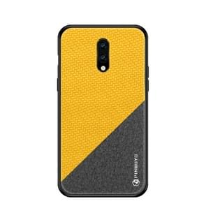 PINWUYO Honors Series Shockproof PC + TPU Protective Case for OnePlus 7(Yellow)