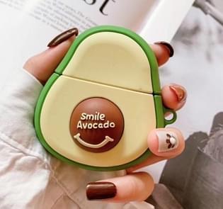 Apple luchtpods met avocado cartoon Bluetooth headset case (groen)