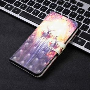 3D Visual Painting Left And Right Open Leather Case for Huawei P30 Pro , With Bracket & Card Slot & Wallet & Bracelet(The Deer)