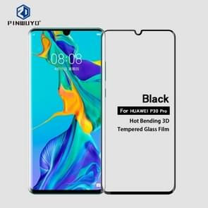 PINWUYO 9H 3D Curved Heat Bending Full Screen Tempered Glass Film for HUAWEI P30pro (black)