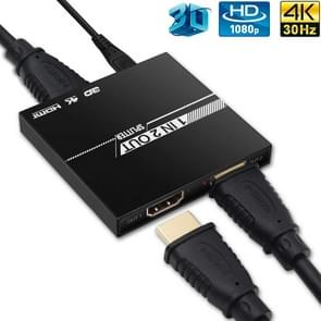 VK-102S 4K HDMI V1.4  1X2 Splitter with 1 HDMI Input 2 HDMI Output