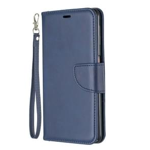 Retro Lambskin Texture Pure Color Horizontal Flip PU Leather Case for Galaxy Note9, with Holder & Card Slots & Wallet & Lanyard(Blue)