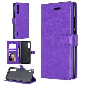 For Xiaomi Mi 9 Crazy Horse Texture Horizontal Flip Leather Case with Holder & Card Slots & Wallet & Photo Frame(Purple)