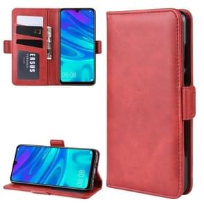 Double Buckle Wallet Stand Leather Cell Phone Case for Huawei P30 LITE,with Wallet & Holder & Card Slots(Red)