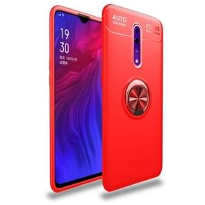 Metal Ring Holder 360 Degree Rotating TPU Case for OPPO RENO Z(Red+Red)
