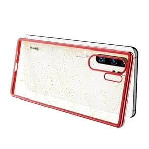 SULADA Drop-proof TPU+ Plating Powder Protective Case for HUAWEI P30 Pro(Red)