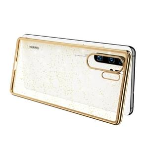 SULADA Drop-proof TPU+ Plating Powder Protective Case for HUAWEI P30 Pro(Gold)