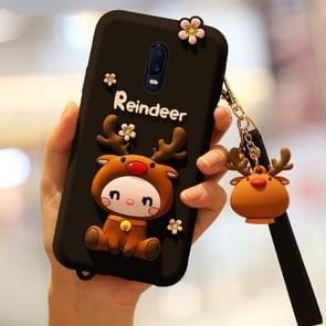 Lovely Reindeer Full Package Anti Falling Silicone Sleeve for OPPO R17(Black)