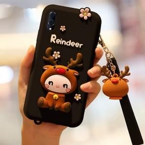 Lovely Reindeer Full Package Anti Falling Silicone Sleeve for Vivo x23(Black)