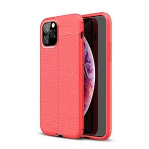 Litchi Texture TPU Shockproof Case for iPhone XI Max 2019(Red)