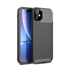 Carbon Fiber Texture Shockproof TPU Case for iPhone XIR 2019(Black)