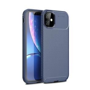 Carbon Fiber Texture Shockproof TPU Case for iPhone XIR 2019(Blue)