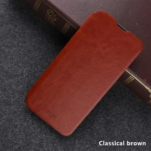 MOFI Rui Series Classical Leather Flip Leather Case with Bracket Embedded Steel Plate All-inclusive for OnePlus 7(Classical brown)