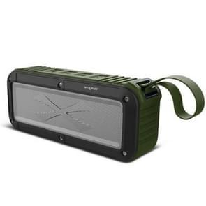 W-KING S20 Loundspeakers IPX6 waterdichte Bluetooth Speaker draagbare NFC Bluetooth Speaker voor buiten/douche/fiets FM-radio (groen)
