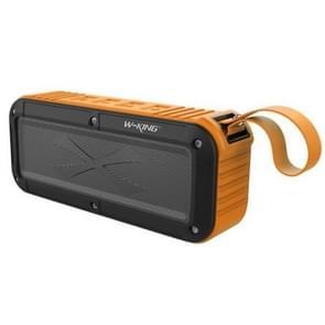 W-KING S20 Loundspeakers IPX6 waterdichte Bluetooth Speaker draagbare NFC Bluetooth Speaker voor buiten/douche/fiets FM radio (Orange)