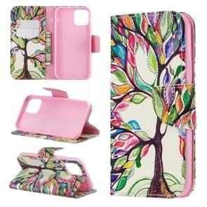 Colored Drawing Pattern Horizontal Flip Leather Case for iPhone 11 Pro,with Holder & Card Slots & Wallet(Tree of Life)