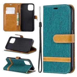 Colored Drawing Pattern Horizontal Flip Leather Case for iPhone 11 Pro   with Holder & Card Slots & Wallet(Green)