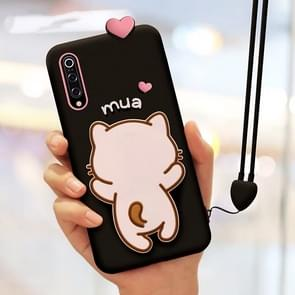 Little White Cat Full Package Anti Falling Silicone Sleeve for Xiaomi Mi 9(Black)