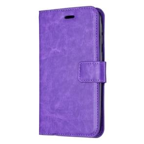 Crazy Horse Texture Horizontal Flip Leather Case with Holder & Card Slots & Wallet & Photo Frame for iPhone XI 2019(pruple)