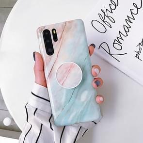 Glossy Marble Folding Bracket Anti-drop TPU Case for Huawei P30 Pro(Z7)