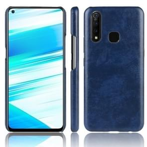 Shockproof Litchi Texture PC + PU Case for Vivo Z5x(Blue)