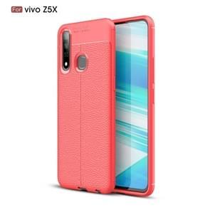 Litchi textuur TPU schokbestendige Case voor VIVO Z5X (rood)