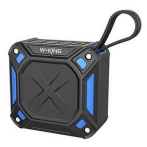 W-King S6 draagbare Bluetooth Speaker waterdichte draadloze muziek speaker radio vak anti-drop outdoor fiets TF kaart luidsprekers (zwart + blauw)