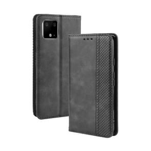 Magnetic Buckle Retro Crazy Horse Texture Horizontal Flip Leather Case for Google Pixel 4 , with Holder & Card Slots & Photo Frame(Black)