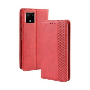 Magnetic Buckle Retro Crazy Horse Texture Horizontal Flip Leather Case for Google Pixel 4 , with Holder & Card Slots & Photo Frame(Red)