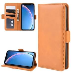 Portemonnee stand lederen mobiele telefoon geval voor iPhone XIR (2019)  met portemonnee & houder & card slots (geel)