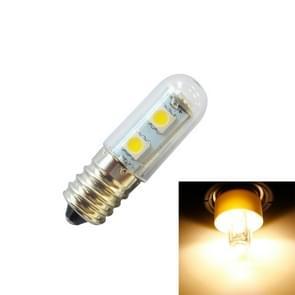E14 screw light LED refrigerator light bulb 1W 220V AC 7 light SMD 5050 ampere LED light refrigerator home(Warm White)
