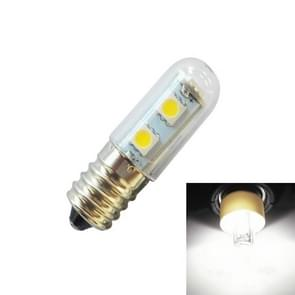E14 screw light LED refrigerator light bulb 1W 220V AC 7 light SMD 5050 ampere LED light refrigerator home(Cool White)