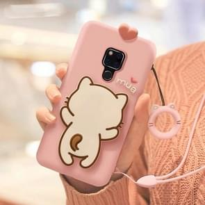 Little White Cat Full Package Anti Falling Silicone Sleeve for Huawei Mate 20(Pink)