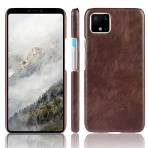 Shockproof Litchi Texture PC + PU Case For Google Pixel 4(Brown)